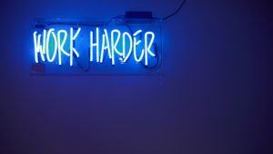 Work harder - promotions and events